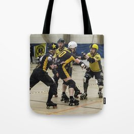 Tyne and Fear on the offense Tote Bag