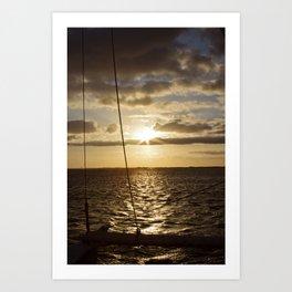 Sunset in NC Art Print