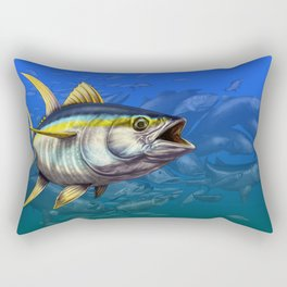 Yellowfin Tuna - Many Fish Rectangular Pillow