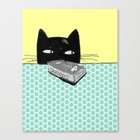 kitty Canvas Prints featuring Kitty  by Mary Kilbreath