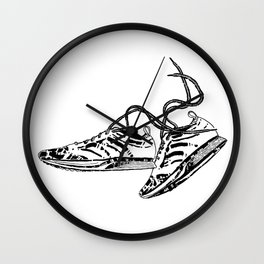 Keep Moving Wall Clock