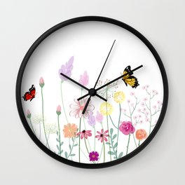 Flowers,plants art Wall Clock