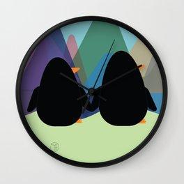 Travel Buddies Wall Clock