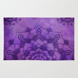 Deep Purple Lotus Mandala Rug