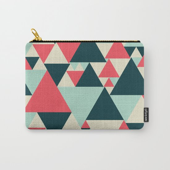 Triangular Pattern  Carry-All Pouch