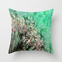 Fresh Dandelions Mosaic Throw Pillow