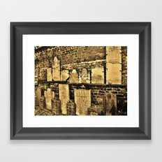 Don't you know what sacred means? Framed Art Print