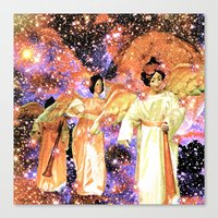 angels Canvas Prints featuring Angels by Saundra Myles