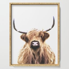 Highland Cow Portrait Serving Tray