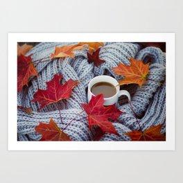 autumn coffee Art Print