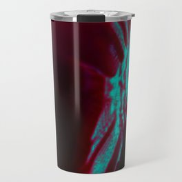 Abstract neon fish on black background. Travel Mug