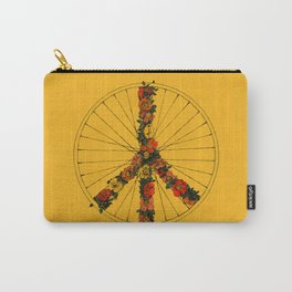 Peace & Bike (Colors) Carry-All Pouch
