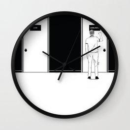Knocking at the door Wall Clock