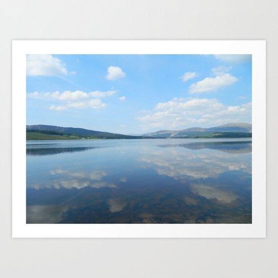 Loch Clatteringshaws SW Scotland Art Print
