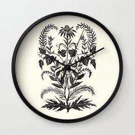 Wild Weeds Wall Clock