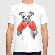 boxer MEDIUM White Mens Fitted Tee