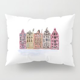 Coloured Houses Pillow Sham