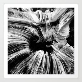 Black & White Fluid Pour Art Print