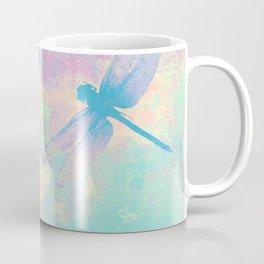 Blue Painting Dragonflies Coffee Mug