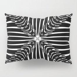 Geometric Black and White Skeleton African-Inspired Pattern Pillow Sham