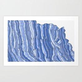 Blue Wave / Welcome Blanket Art Print