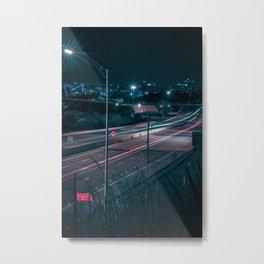 Chattanooga at Night Metal Print
