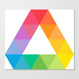 "Triangle ""color wheel"" Canvas Print"