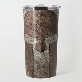 Molon Labe - Spartan Helmet on Riveted steel Travel Mug