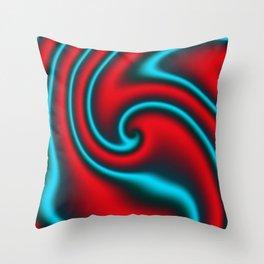 Fire Mint Ribbon Candy Fractal Throw Pillow