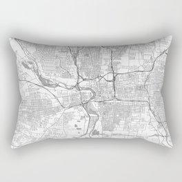 Columbus Map Line Rectangular Pillow