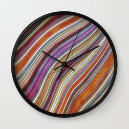 Wild Wavy Lines 16 Wall Clock
