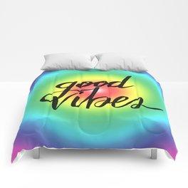 Good Vibes - Rainbow Pride Comforters