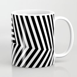 Abstract black and white stripes design Coffee Mug
