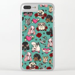 Tattoo Dogs Clear iPhone Case