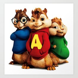 Chipmunks - You Spin Me Right Round Art Print