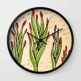 fingernails plant Wall Clock