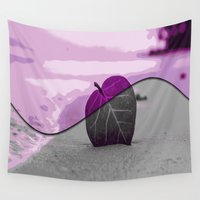 leaf Wall Tapestries featuring Leaf by Aloke Design