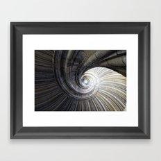 Sand stone spiral staircase Framed Art Print