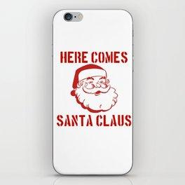 Here Comes Santa Claus iPhone Skin