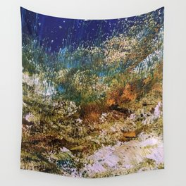 peninsula blue, monterey Wall Tapestry