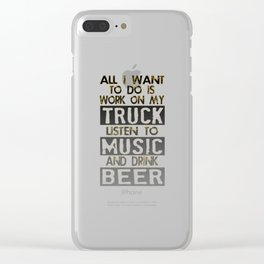 Love Your Diesel Truck? Clear iPhone Case