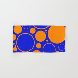 Bubbles And Rings In Orange And Blue Hand & Bath Towel