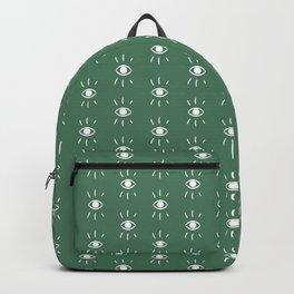 Eye Pattern in Green Backpack