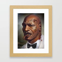 """Mike Tyson """"Punched OUT"""" Framed Art Print"""