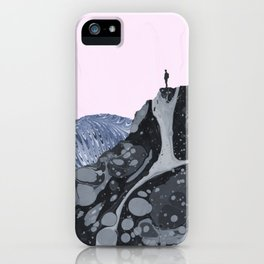 Man at the Top and on the Edge iPhone Case