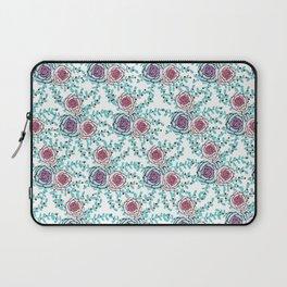 Bluegreen flower pattern Laptop Sleeve