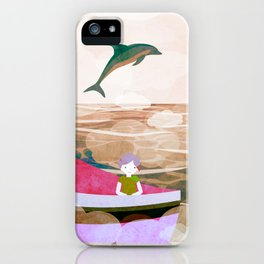 When dolphins are around 7 iPhone Case