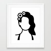 lana del rey Framed Art Prints featuring Lana by triangle.cross