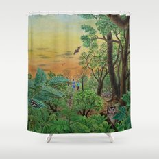 A Day of Forest (9). (the forest at night) Shower Curtain