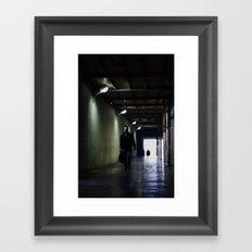 Dark Walk Framed Art Print